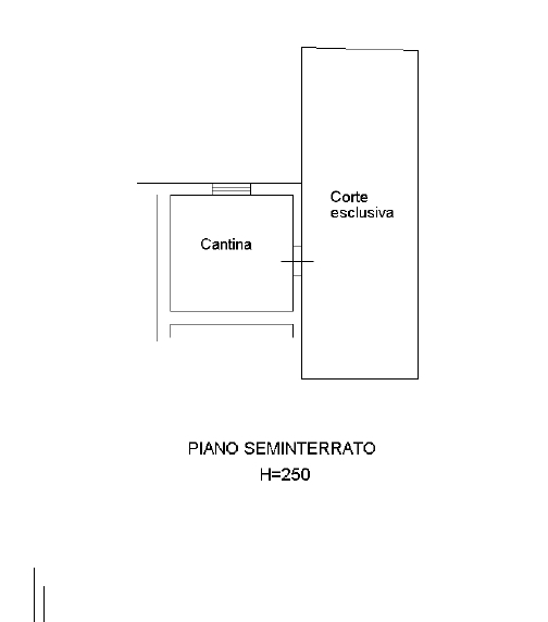 PLANIMETRIA TECNICA PIANO SEMINTERRATO